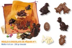 Moule chocolats de Pâques n°1 - 6 motifs - Moules gourmandises – 10doigts.fr