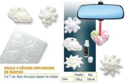 Moule diffuseurs de parfums - Set de 4 formes - Moules – 10doigts.fr