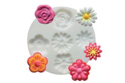 """Moule silicone """"Fleurs"""" : 5 formes - Décorations Fimo – 10doigts.fr"""