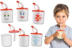 Mug enfantin - Lot de 4 - Plastique Opaque – 10doigts.fr