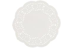 Napperons ronds en papier dentelle blanc - 30 pièces - Perles – 10doigts.fr