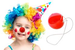 Nez de clown en plastique + élastiques - Mardi gras, carnaval – 10doigts.fr