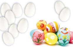 Oeufs en plastique blanc - Opaque – 10doigts.fr