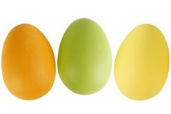Oeufs en plastique couleurs - Plastique Opaque – 10doigts.fr
