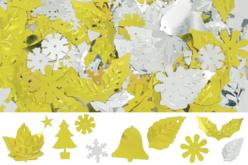 Paillettes de Noël or et argent, formes assorties - Set d'environ 1000 - Paillettes fantaisie – 10doigts.fr