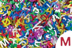 Paillettes lettres, couleurs assorties - Set d'environ 1500 - Paillettes fantaisie – 10doigts.fr