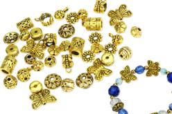 Perles charm's intercalaires dorés - 30 perles - Perles intercalaires & charm's – 10doigts.fr