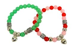 Kit bracelets cœur à fabriquer - 4 bracelets - Kits bijoux – 10doigts.fr