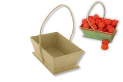 Panier en carton papier mâché avec cordon - Pots, vases en carton – 10doigts.fr