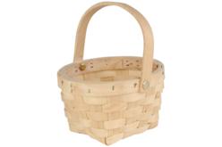 Panier rond en copeaux de bois tressé - Corbeilles et paniers – 10doigts.fr