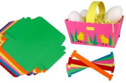 Paniers colorés en carte forte - Set de 6 - Supports de fêtes en carton – 10doigts.fr