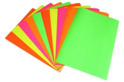 Papiers affiche - 10 feuilles couleurs fluos - Papier affiche – 10doigts.fr