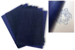 Papier carbone bleu - Lot de 10 feuilles A4 - Papier carbone, papier buvard – 10doigts.fr