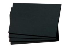 Pochette de 50 feuilles de papier noir - Papiers Unis – 10doigts.fr