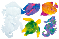 Animaux marins en papier diffuseur - Set de 48 - Nouveautés – 10doigts.fr