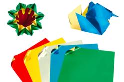 Papier Origami métallisé, format carré - 50 feuilles - Papier effet métallisé, pailleté, nacré – 10doigts.fr