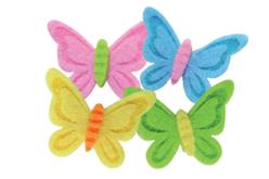 Stickers papillons en feutrine adhésive - Formes en Feutrine Autocollante – 10doigts.fr