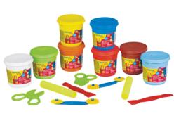 Coffret pâtes à modeler  (Dès 2 ans) - 8 pots de 220 gr - Modelage – 10doigts.fr