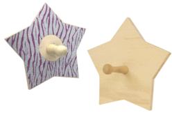 Patère étoile en bois - Porte-manteaux et patères – 10doigts.fr