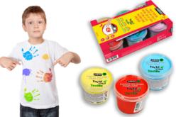 Peinture aux doigts pour tissu TACTIL COLOR - 6 couleurs basiques - Peinture textile – 10doigts.fr