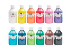 Peinture acrylique opaque 80 ou 250 ml - large choix de couleurs - Acryliques scolaire – 10doigts.fr
