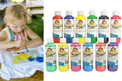 peinture enfant tissu