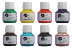 Peinture soie thermofixable - Set de 8 couleurs - Soie – 10doigts.fr