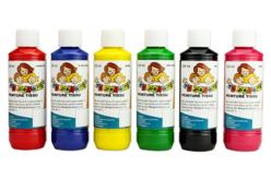 Peinture textile , flacon de 250 ml - couleurs classiques ou nacrées - Peintures Tissu – 10doigts.fr