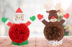 Père Noël et renne pompon