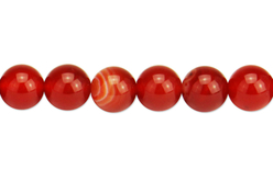 Perles Agate rouge - set de 48 - Perles Lithothérapie – 10doigts.fr