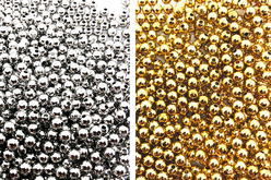 Perles billes intercalaires or ou argent - 1500 perles - Perles intercalaires & charm's – 10doigts.fr