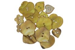 Boutons de nacre camaïeu beige - Set de 16 - Boutons – 10doigts.fr