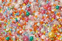 perles de rocaille pastel