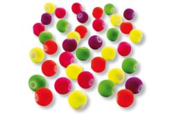 Perles fluo couvertes de gomme douce