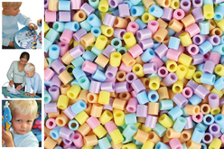 Perles fusibles à repasser - Couleurs pastels - Perles fusibles 5 mm – 10doigts.fr