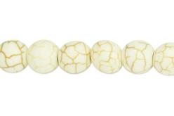 Perles Howlite blanc - set de 48 - Perles Lithothérapie – 10doigts.fr