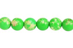 Perles Jaspe Impérial vert - Set de 48 - Perles Lithothérapie – 10doigts.fr