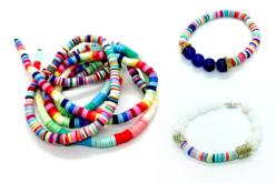 Perles rondelles HEISHI en pâte polymère - 900 perles - Perles en pâte polymère – 10doigts.fr