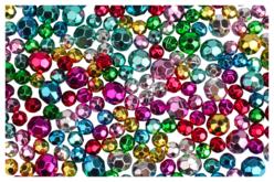 Perles rondes métallisées à facettes - Set de 200 - Perles en plastique – 10doigts.fr
