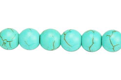 Perles Turquoise - 48 perles - Perles Lithothérapie – 10doigts.fr