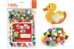 Perles à repasser XXL Perlou  - Set de 500 perles - Perles tons vifs – 10doigts.fr