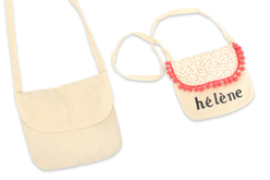 Petit sac à main en coton - Support textile à customiser – 10doigts.fr