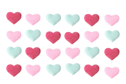 Stickers cœurs en tissu moletonné brillant - Coeurs – 10doigts.fr