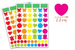 Gommettes formes fantaisies - 2 planches - Toutes les gommettes géométriques – 10doigts.fr