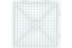 Plaque carrée transparente pour perles à repasser XXL - Perles fusibles 1 cm – 10doigts.fr
