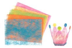 Feuilles de Sisal - 5 couleurs pastel - Papier artisanal naturel – 10doigts.fr