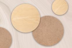 Support plat rond bois ou MDF - Format au choix - Supports plats – 10doigts.fr