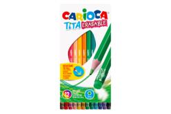 Pochette de 12 crayons de couleur effaçables Carioca