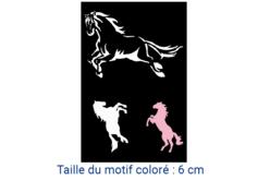 "Pochoir adhésif repositionnable ""Chevaux - Pochoir Adhésifs – 10doigts.fr"