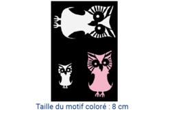 "Pochoir adhésif repositionnable ""Chouettes"" - Pochoir Adhésifs – 10doigts.fr"